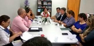 Reunião Sejusc, com deputado Luis Castro, segudo à direita/Foto: Divulgação