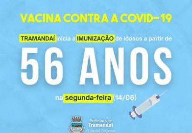 TRAMANDAÍ: Vacinação contra COVID-19: Pessoas acima de 56 anos podem receber a primeira dose a partir desta segunda-feira