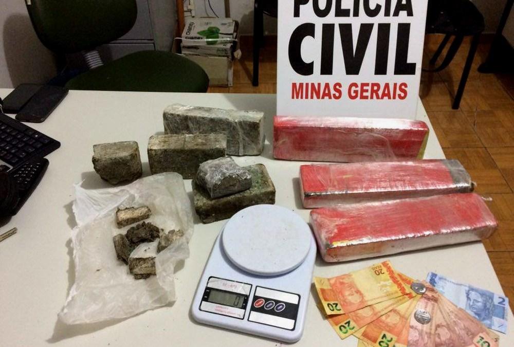 Homem compra droga em Uberlândia para vender em Vazante e é preso
