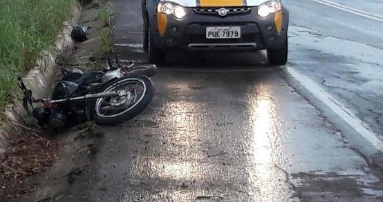 Acidente na MGC-354 causada por manobra imprudente de motociclista