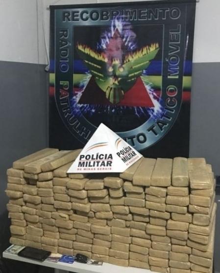 Operação da PM de Paracatu apreende mais de 100kg de maconha
