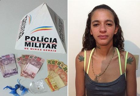 Mulher é presa por envolvimento com tráfico de drogas em Vazante