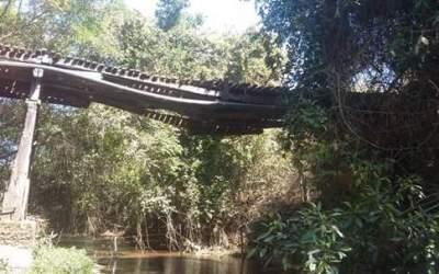 Prefeitura de Vazante se posiciona sobre Ponte do Rio Santa Catarina que corre risco de cair
