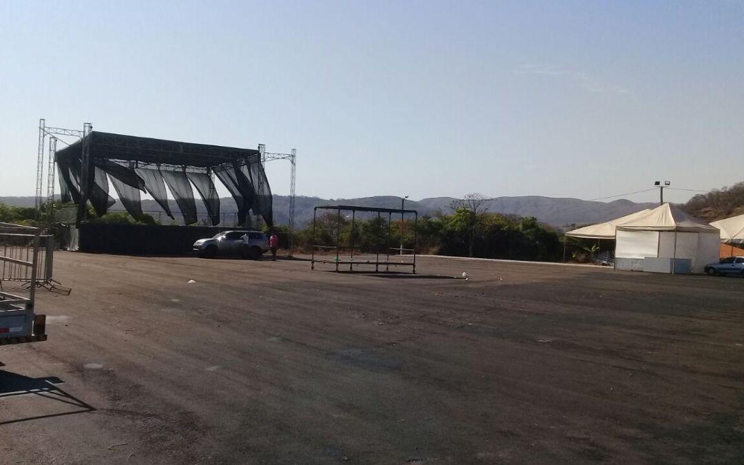Área de eventos do parque de exposições já está pronto para receber Expozante 2017