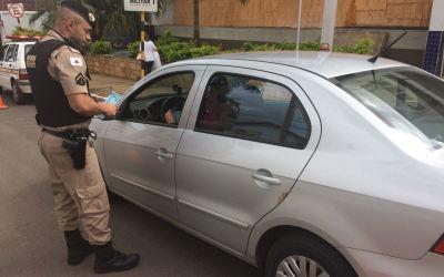 Vazante: blitz educativa informa que fiscalizações no trânsito serão intensificadas