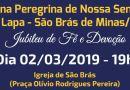 São Brás de Minas receberá Novena Peregrina de Nossa Senhora da Lapa