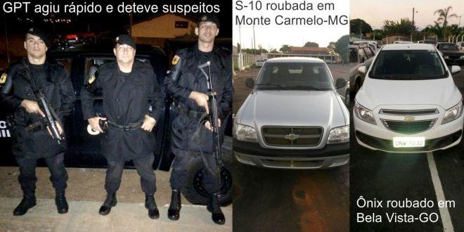 Caminhonete roubada em Minas Gerais é recuperada pela PM de Morrinhos