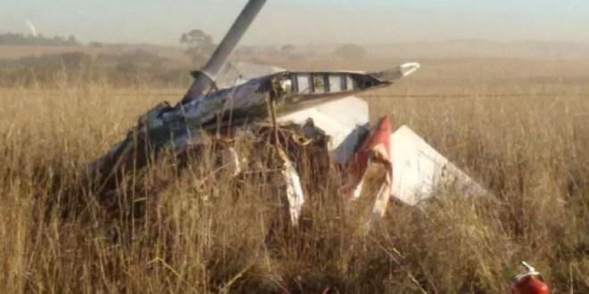 Avião cai em Rio Verde: Um homem morreu e outro ficou gravemente ferido
