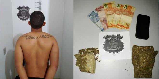 Menor é apreendido sob suspeita de tráfico de drogas em Caldas Novas
