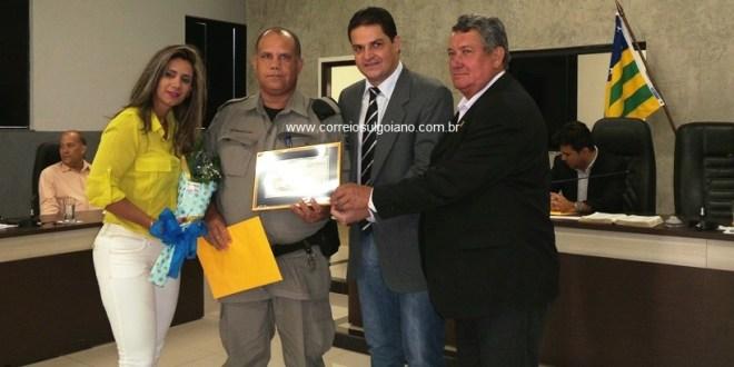 Policias do 29º BPM de Goiatuba são homenageados pela Câmara de Morrinhos