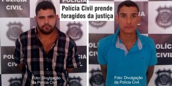 Após investigação, Polícia Civil prende foragidos do sistema prisional