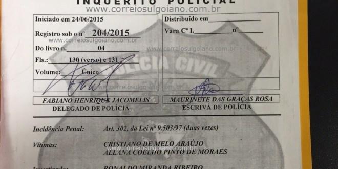 Motorista de Cristiano Araújo é indiciado por Duplo Homicídio Culposo