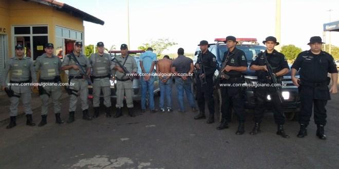 Polícia Rodoviária Estadual prende suspeitos de furto em fazenda de Morrinhos.