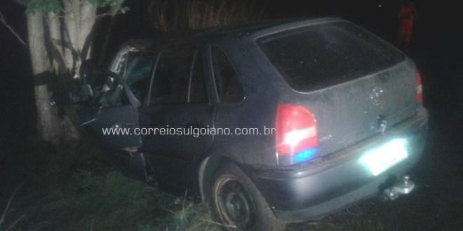 Na GO-215, em Pontalina, saída de pista deixa condutor ferido, sem gravidade