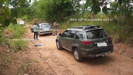 Veículo encontrado pela PM em estrada rural