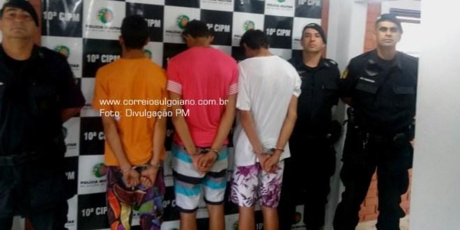 GPT EM AÇÃO: Policiais da 10ª CIPM prendem suspeitos e apreendem drogas em Morrinhos