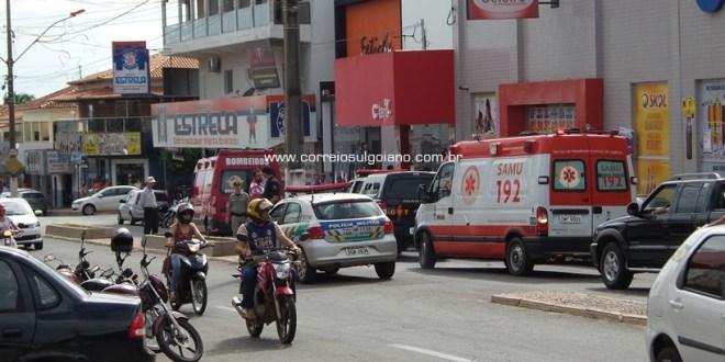 ASSALTO! Homens armados invadem loja Claro e roubam celulares em Morrinhos