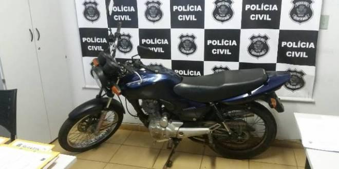 Polícia Civil de Morrinhos recupera duas motos roubadas e prende suspeitos