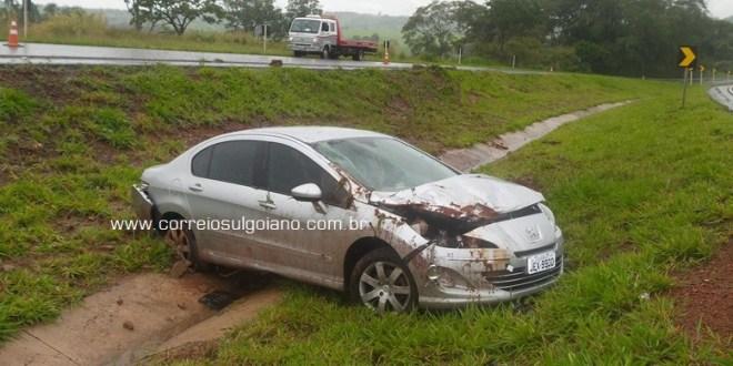 BR-153, Morrinhos: Dois acidente em sequência e mulher fica gravemente ferida