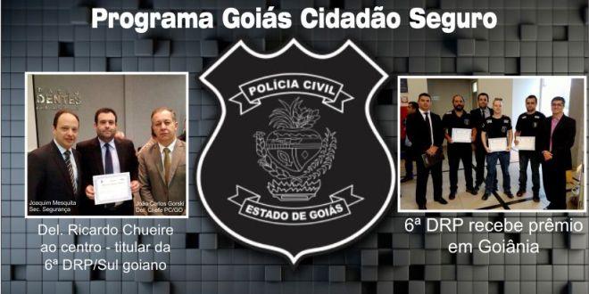 RECONHECIMENTO: 6ª Delegacia Regional de Polícia Civil é premiada em Goiânia