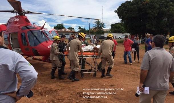 Equipe médica tentou embarcar vítima, que faleceu no helicóptero