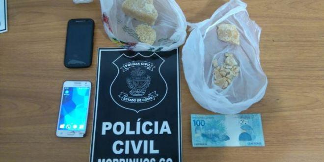 Polícia Civil prende suspeito de tráfico e apreende entorpecentes em Morrinhos