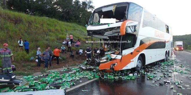 Casal morre em acidente na BR-153, em Morrinhos! SAMU, Bombeiros e SMR Triunfo se unem no socorro às vítimas!
