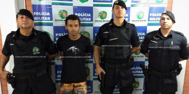 Após denúncia da comunidade GPT da 10ª CIPM prende suspeito de vários roubos em Morrinhos