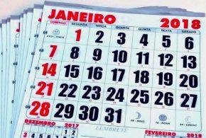 2018 terá 09 feriados nacionais e 05 pontos facultativos. Confira as datas definidas pelo Governo