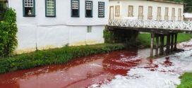 Polícia Civil investiga acidente com caminhão que derramou 10 mil litros de sangue bovino no Rio Vermelho