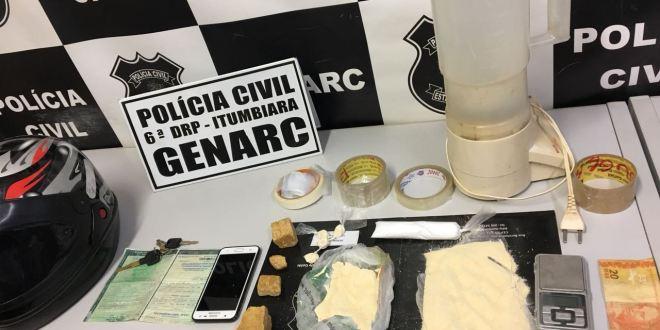 Polícia Civil apreende jovem suspeito de comercializar droga e apreende cocaína em ação do GENARC