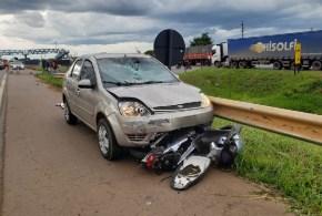 VÍDEO: Morte na rodovia – motociclista morre ao colidir com carro em rodovia, no município de Anápolis