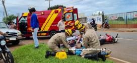 Caminhonete x Moto: Homem fica ferido após acidente de trânsito em Morrinhos