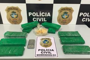 Polícia Civil prende suspeito de tráfico e apreende drogas em Morrinhos