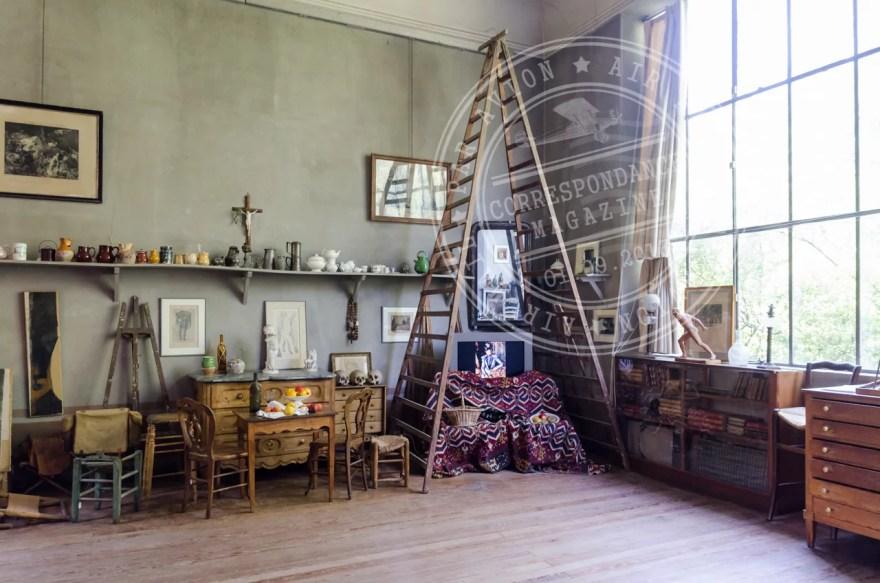 No atelier de Cézanne