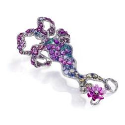 "Criações Anna Hu ""Monet Water Lilies"" bracelete"