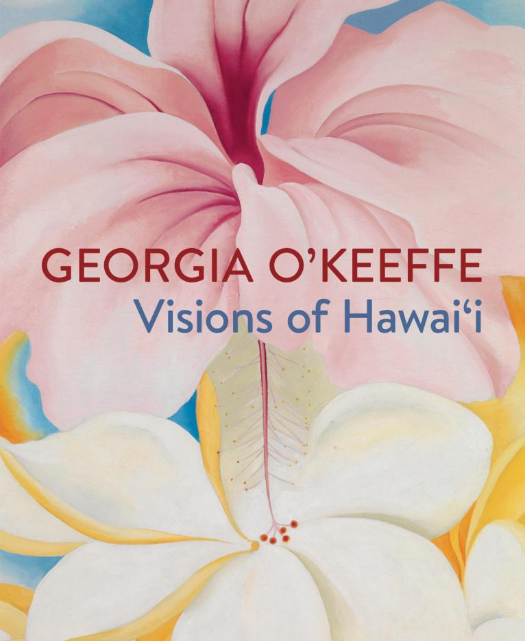 Capa do livro Georgia O'Keeffe. Hibiscus with Plumeria, 1939 Oil on canvas, 40 x 30 in. Smithsonian American Art Museum Gift of Sam Rose and Julie Walters, 2004.30.6