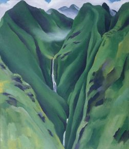 Georgia O'Keeffe. Waterfall, No. I, 'Īao Valley, Maui, 1939 Oil on canvas, 19 1/8 x 16 in. Memphis Brooks Museum of Art, Memphis, Tennessee Gift of Art Today 76.7