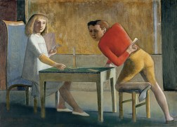 "© Balthus. Madrid Thyssen © Balthus.""The Card Party"" (1948-1950),"