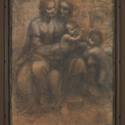 16. Léonard de Vinci, Sainte Anne, la Vierge, l'Enfant Jésus et saint Jean Baptiste © The National Gallery, London