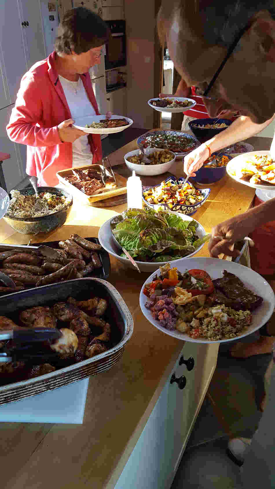 BBQ night French Cycling Holidays with Correze Cycling Holidays France
