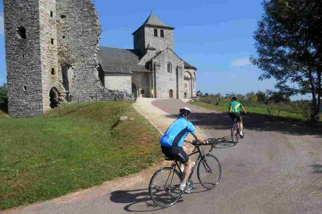 Cycling Tour France - Climb to Mercoeur with Correze Cycling Holidays France