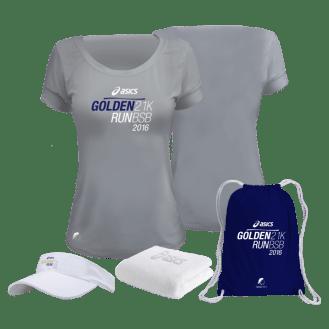 Kit Feminino Asics Golden Run BSB
