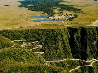 Alto da Serra do Rio do Rasto, em Bom Jardim da Serra, local da chegada da Mizuno Uphill Marathon