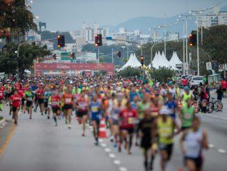 Largada da Maratona de Florianópolis 2017
