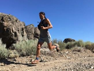 Iazaldir Feitosa durante a Tahoe Rim Trail 100 milhas Endurance Run