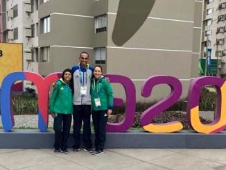 Os brasileiros Valdilene, Wellington Cipó e Andreia, representantes do Brasil na maratona do Pan de Lima (Divulgação/CBAt)
