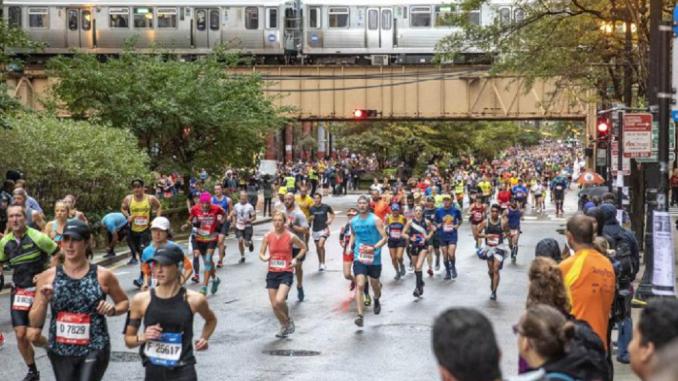Maratona de Chicago 2021 volta a ser presencial com participação de 35 mil corredores. (Divulgação)