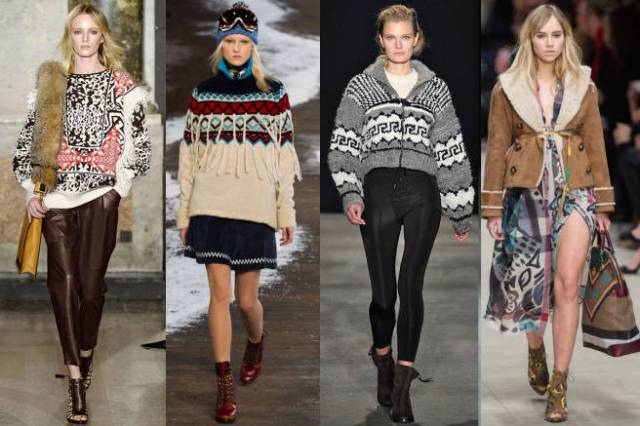knitted pieces feature Nordic elements