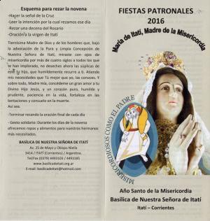 Se inicia la novena en honor a la virgen de Itatí en la Basílica